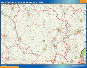 carte bourgogne franche comte