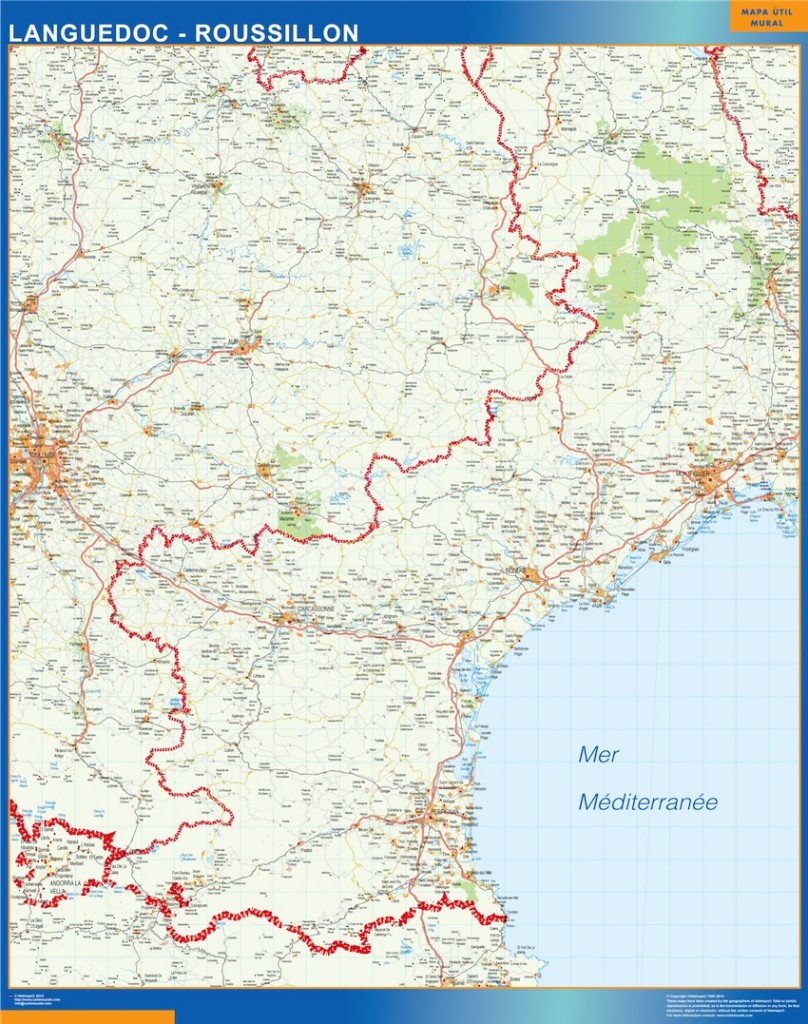 carte languedoc roussillon