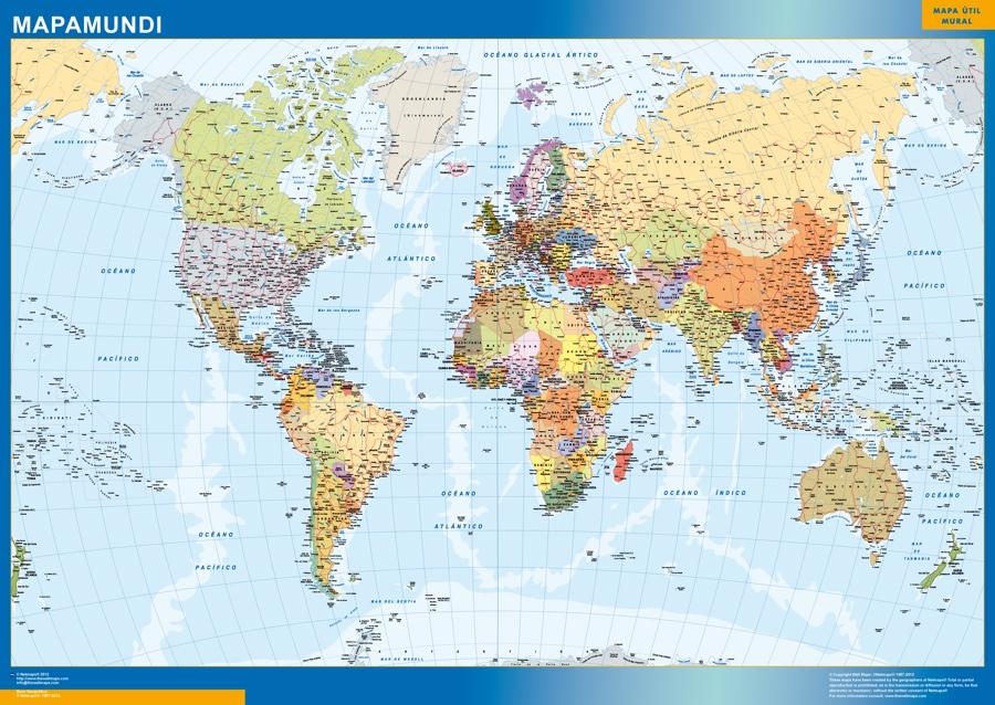 carte monde espagnol