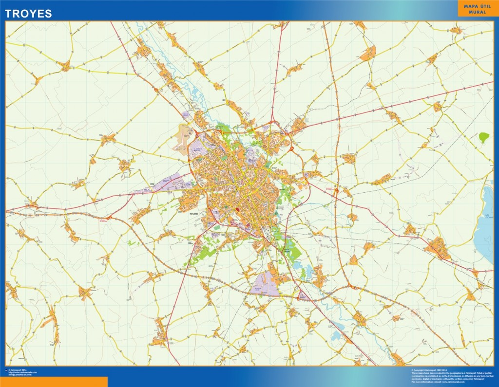 carte troyes