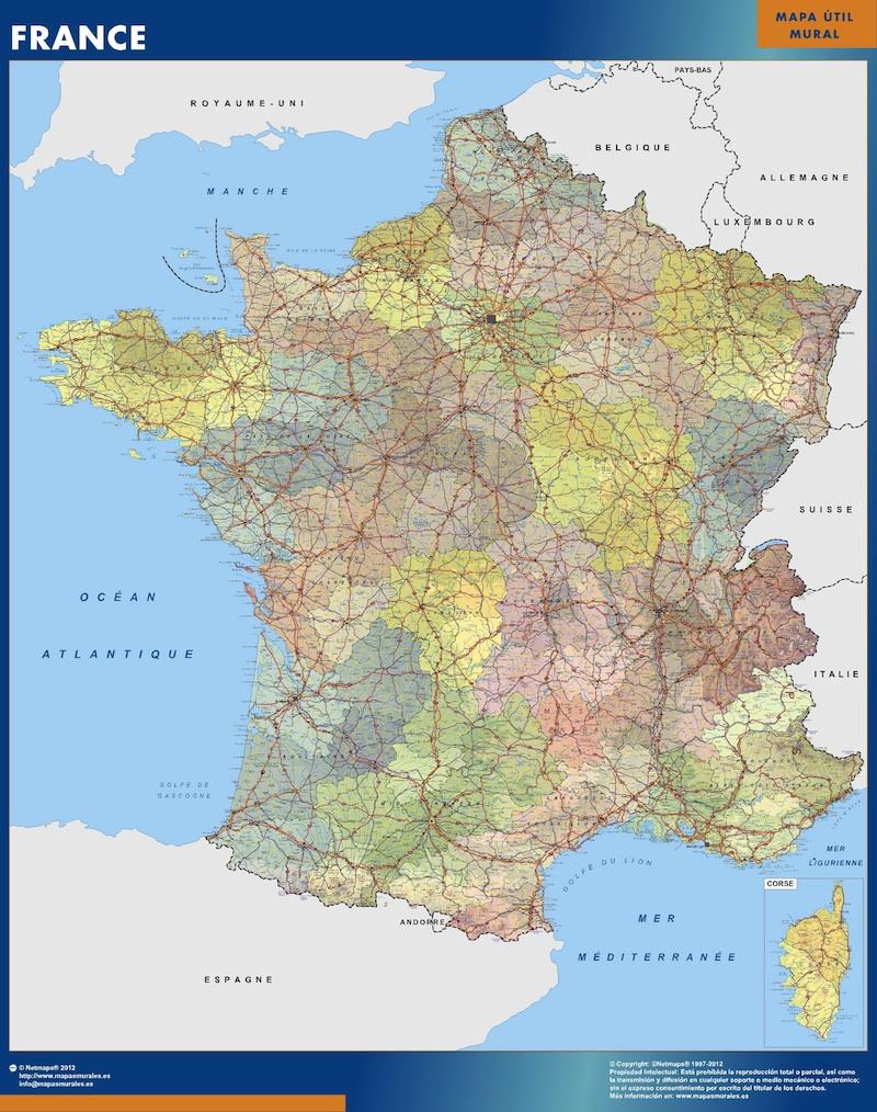 carte france politique