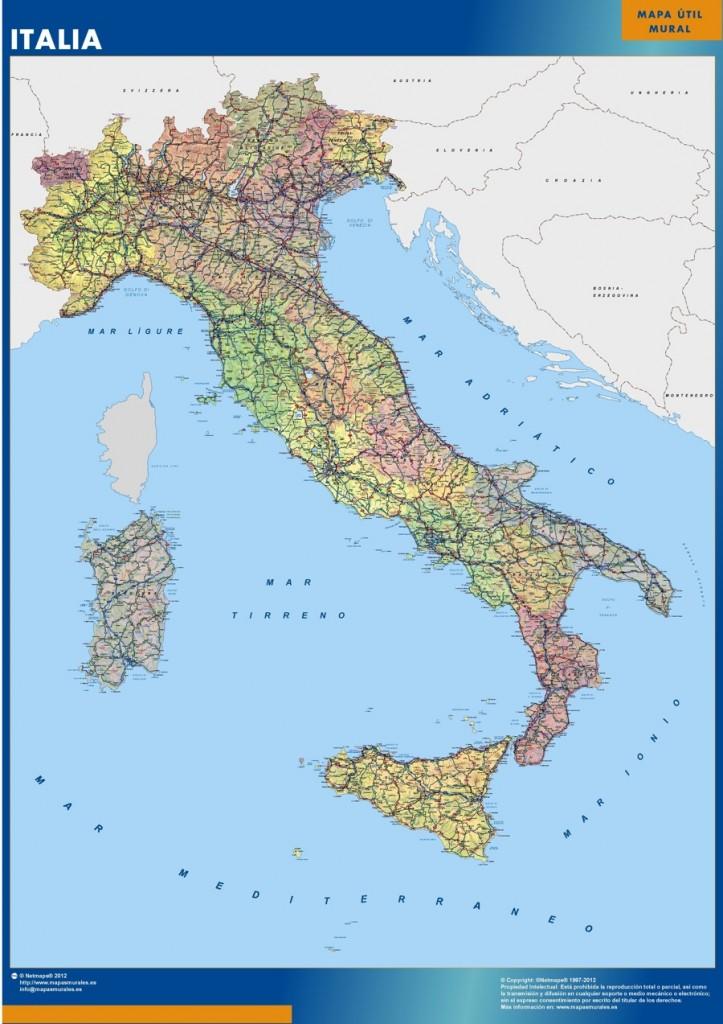 Carte Italie murale