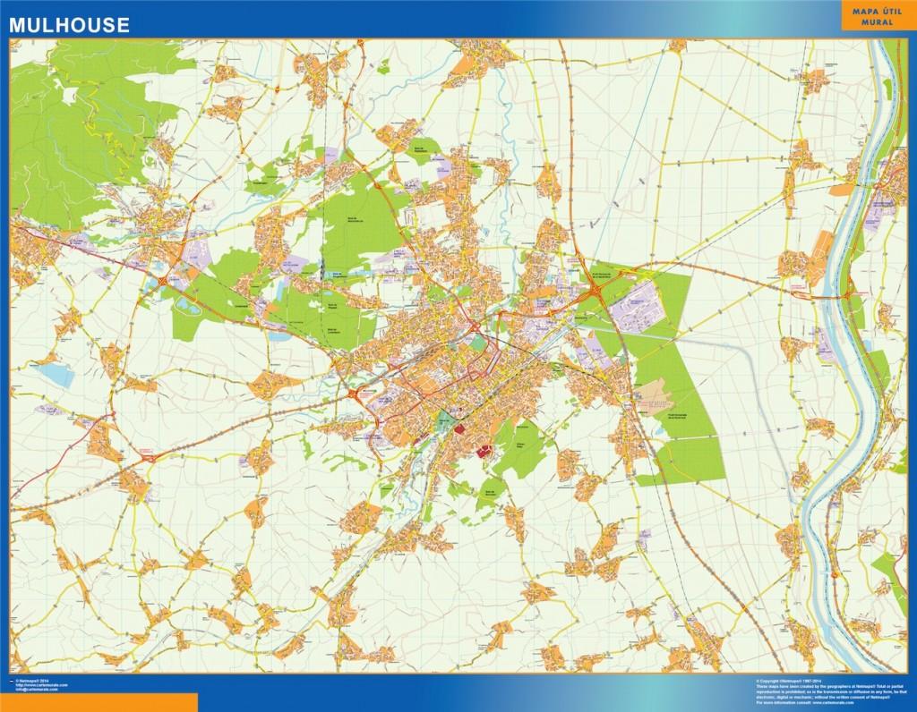 plan des rues mulhouse