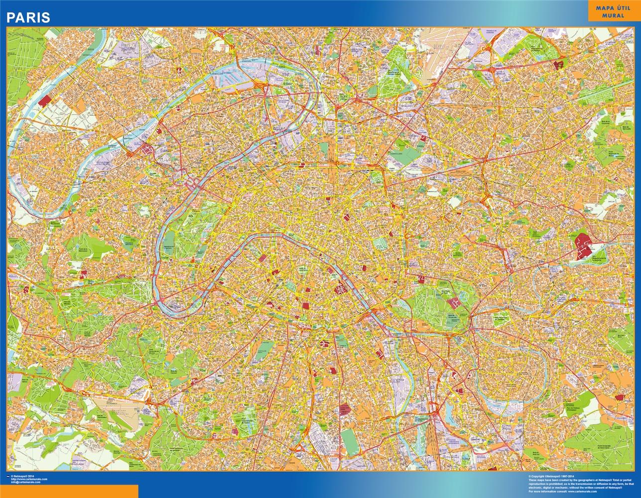 plan des rues paris