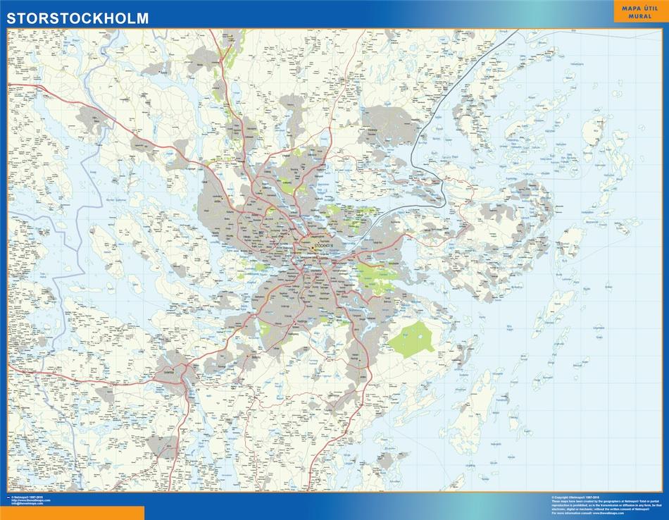 carte Storstockholm