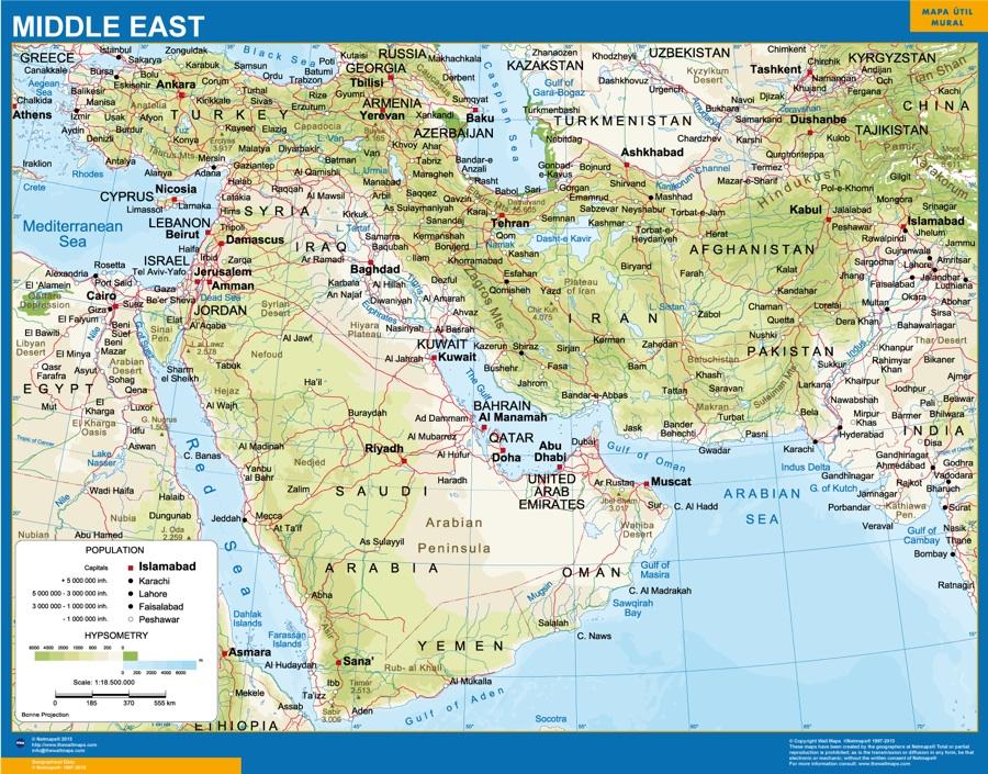 Carte Moyent Orient