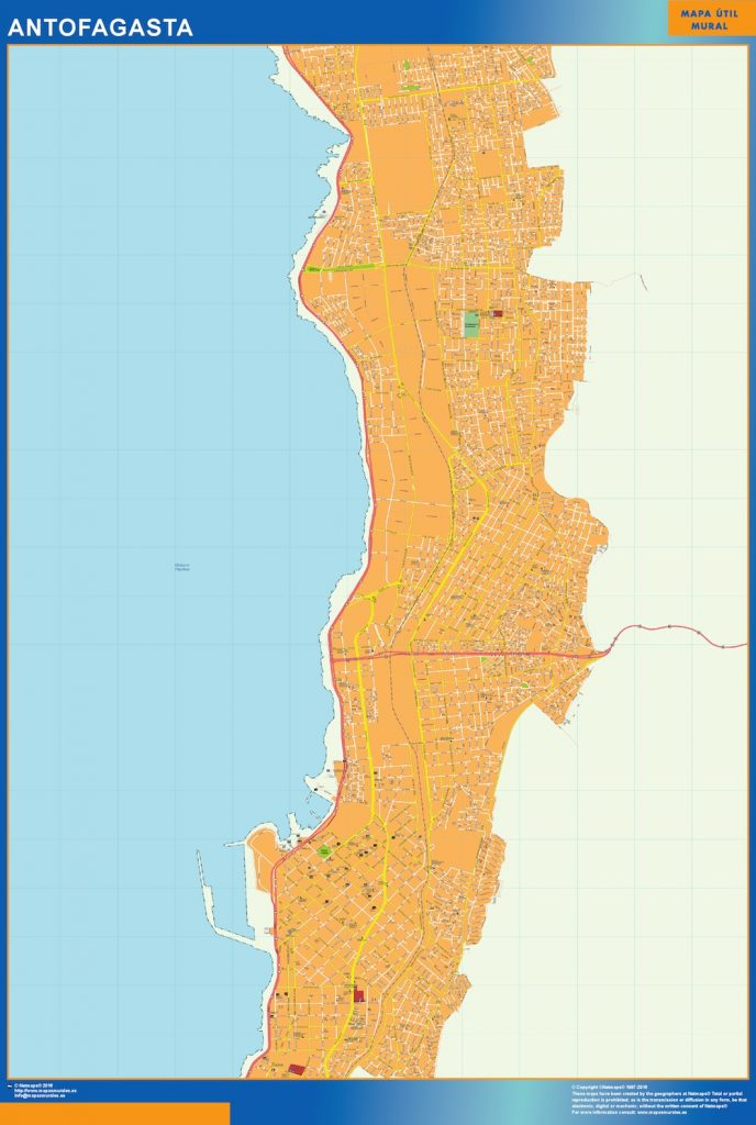 Carte Antofagasta Chili