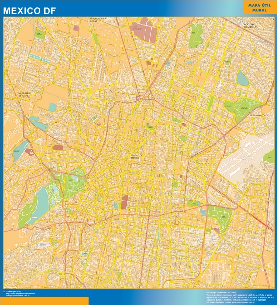 Carte Mexique Df Centro Mexique