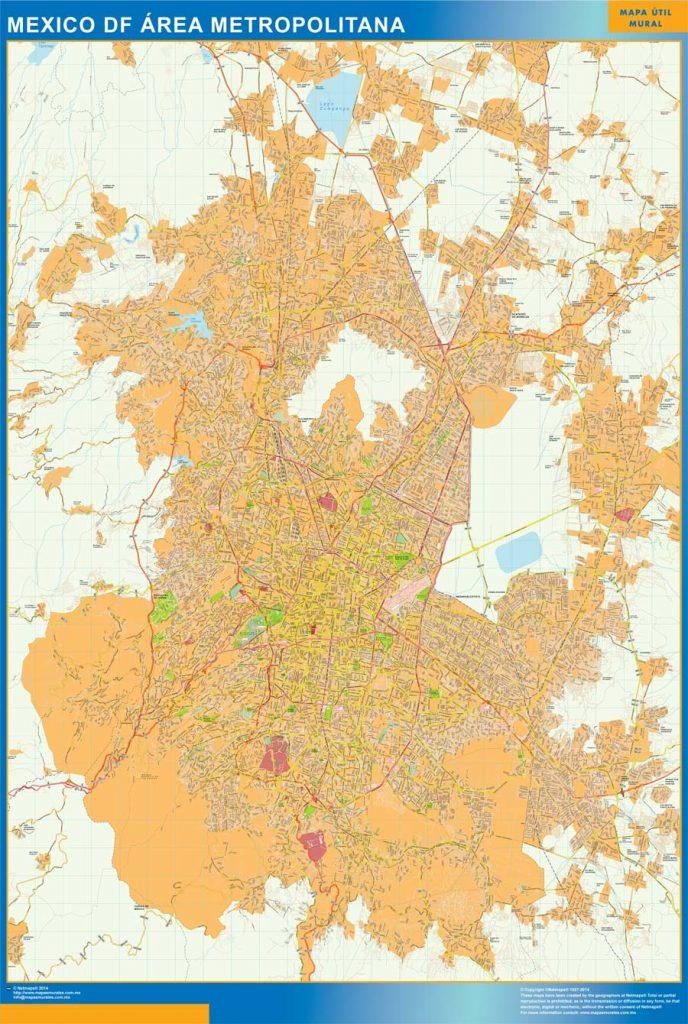 Carte Mexique Distrito Federal Mexique