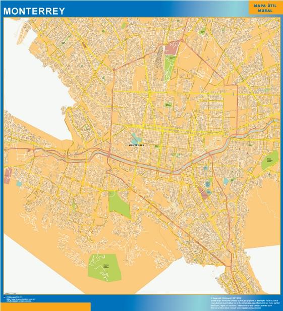 Carte Monterrey Centro Mexique