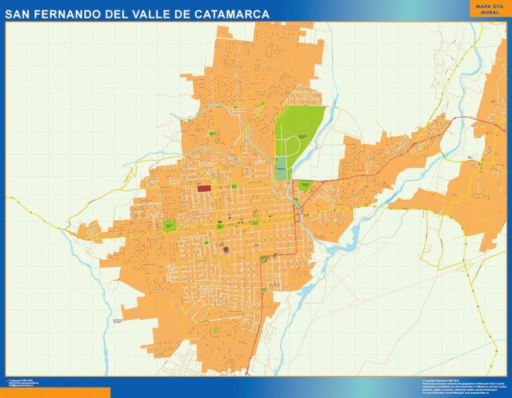 Carte San Fernando del Valle Catamarca Argentine