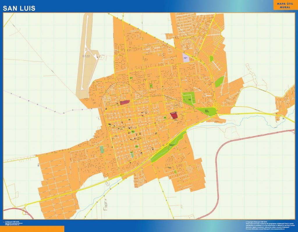 Carte San Luis Argentine