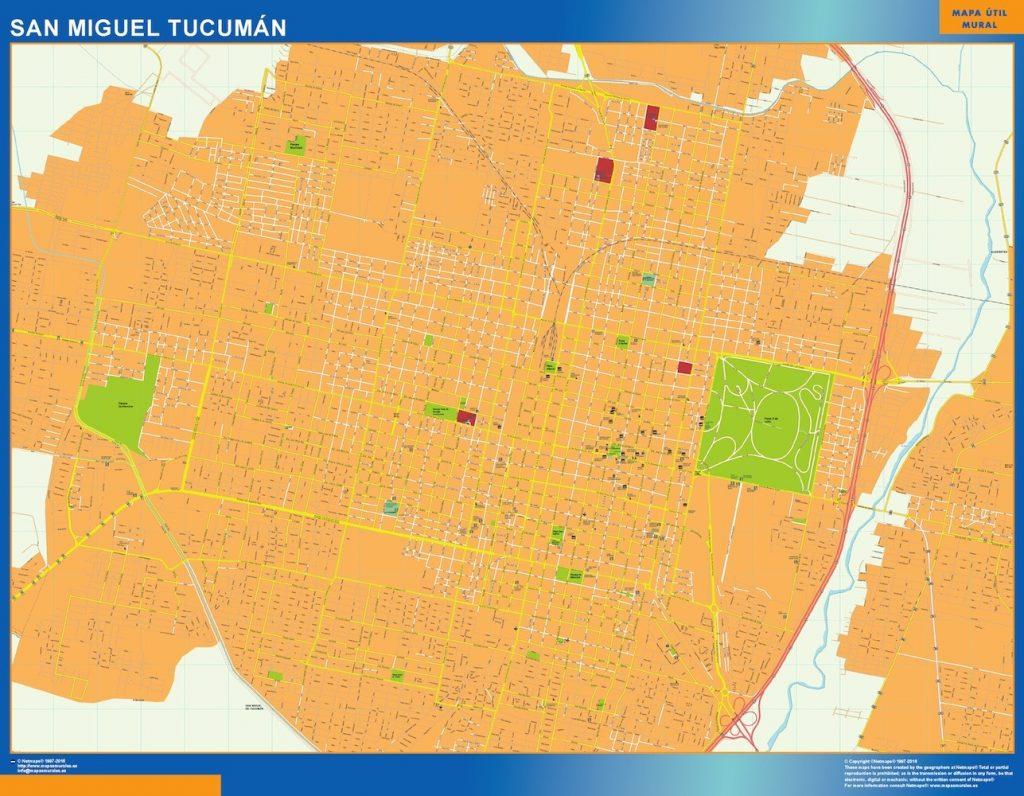 Carte San Miguel Tucuman Argentine