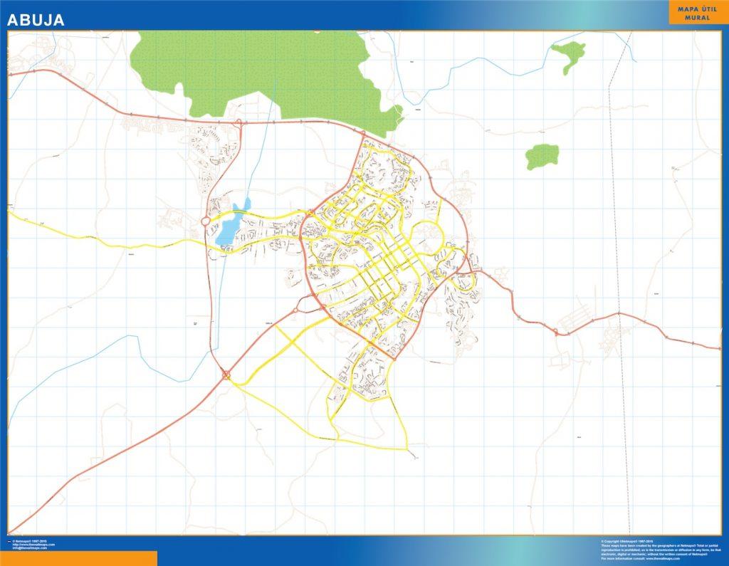 Carte urbaine Abuja