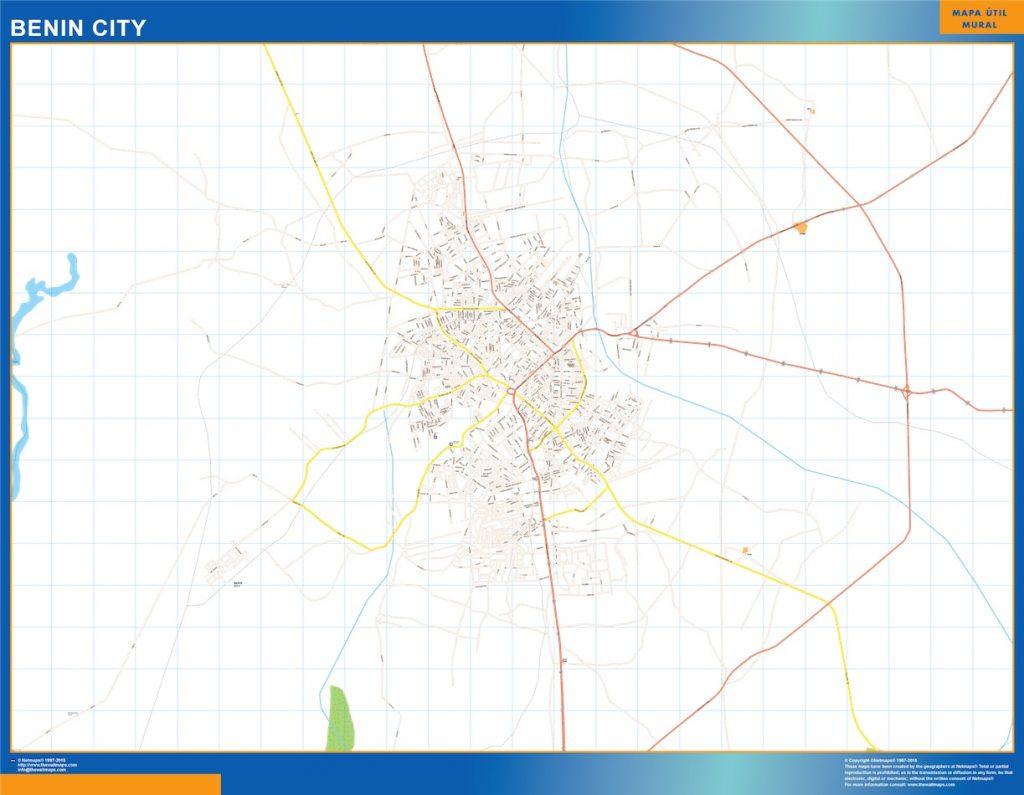 Carte urbaine Benin City