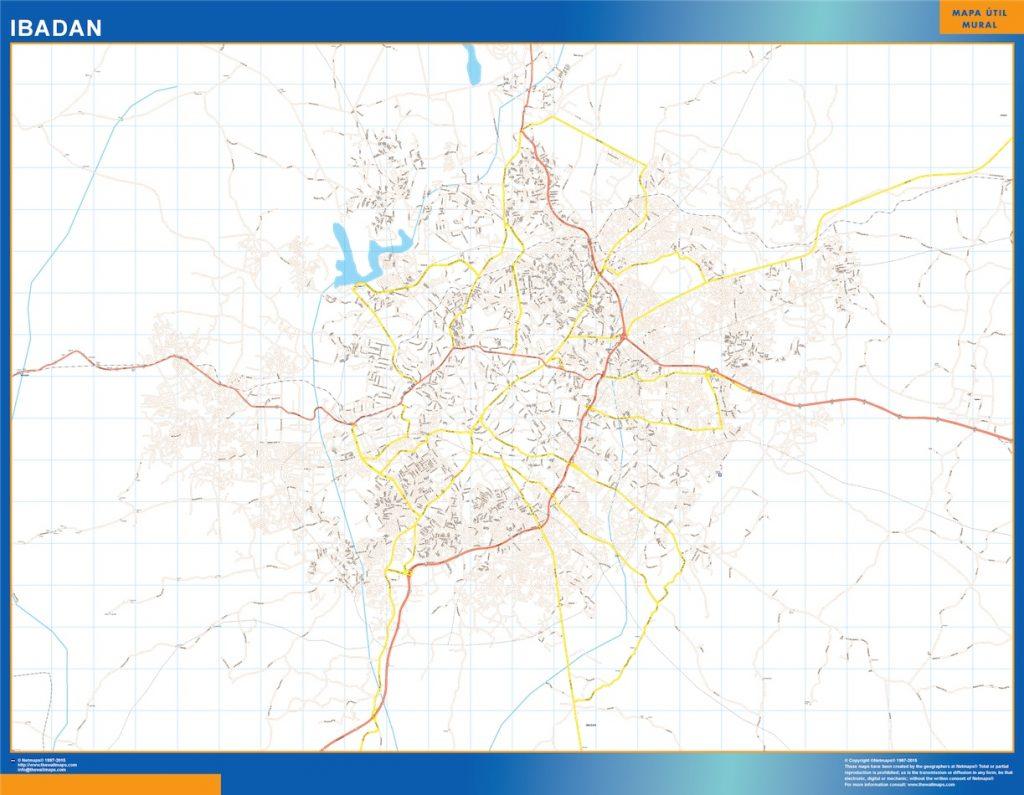 Carte urbaine Ibadan