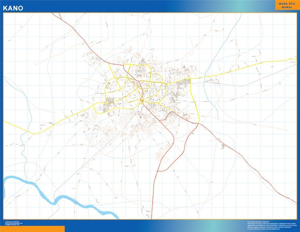Carte urbaine Kano