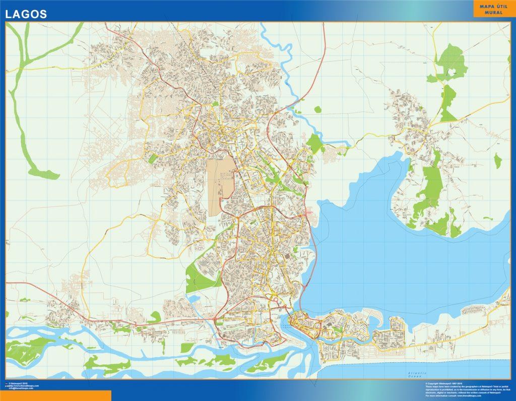 Carte urbaine Lagos