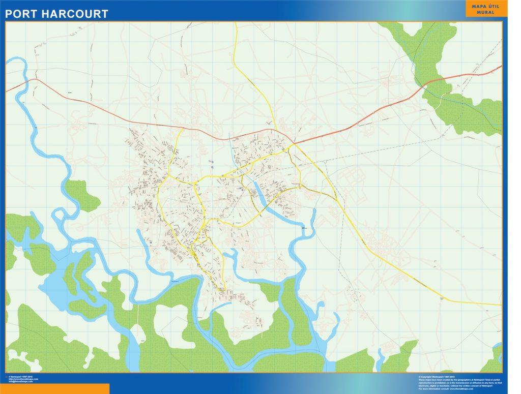 Carte urbaine Port Harcourt