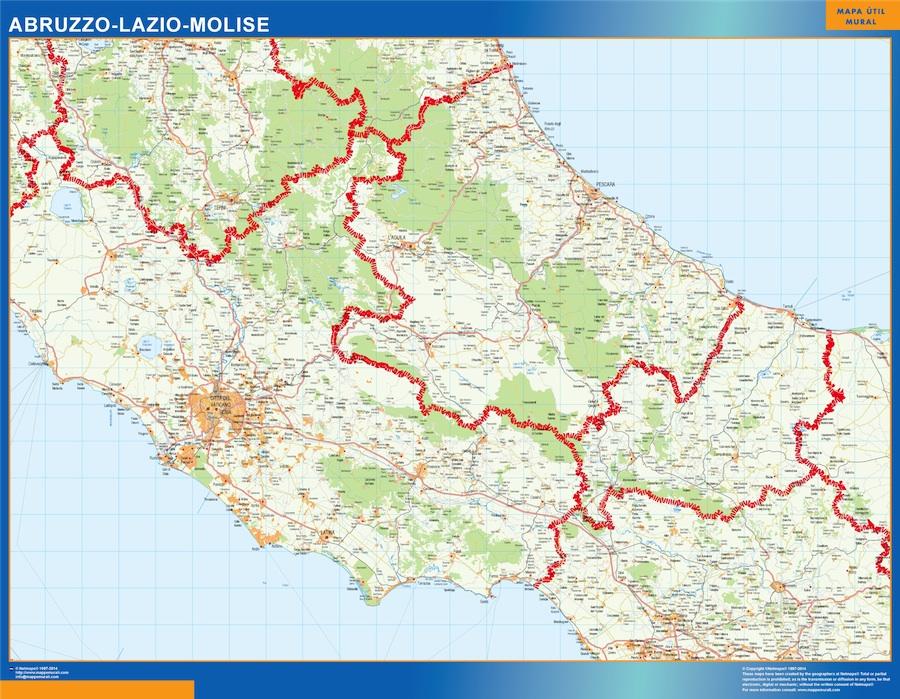 Carte Abruzzo Lazio Molise Italie
