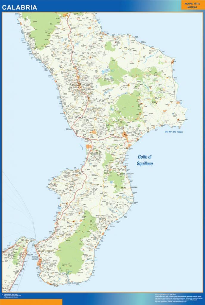 Carte Calabria Italie