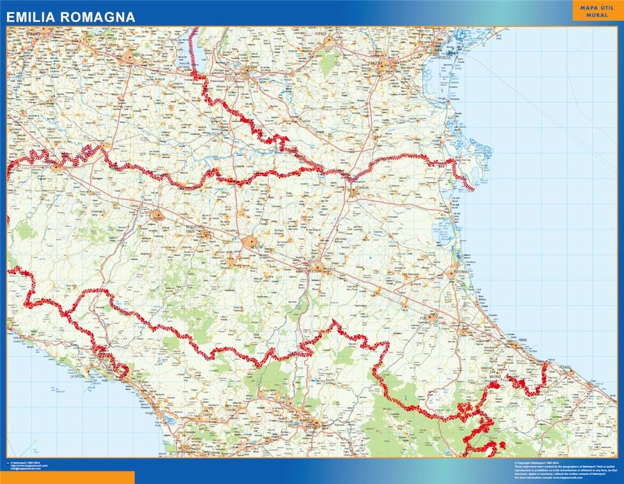 Carte Emilia Romagna Italie