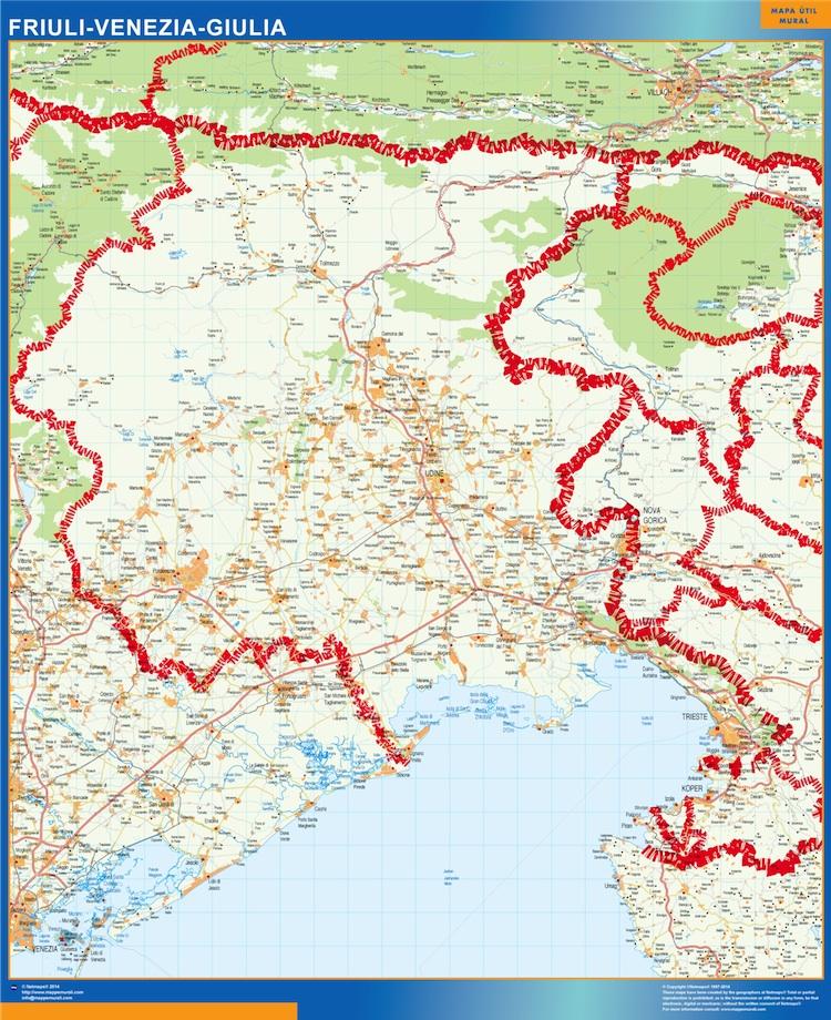 Carte Friuli Venezia Giulia Italie