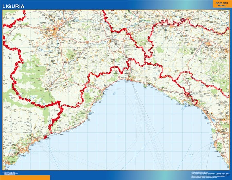 Carte Liguria Italie