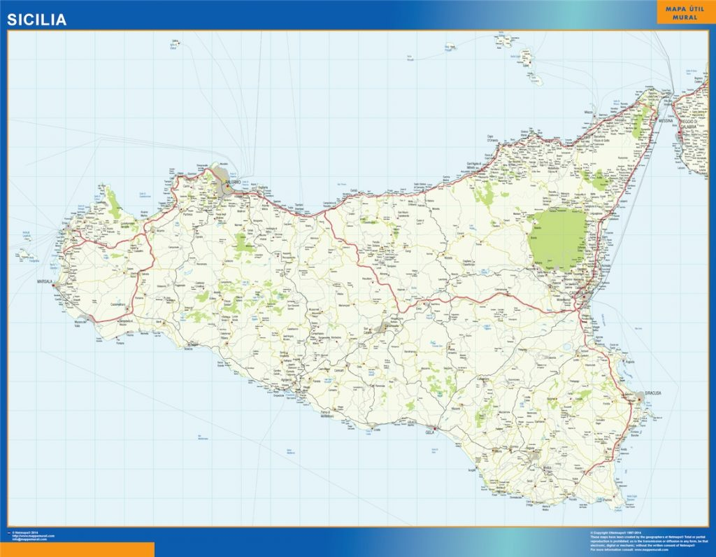 Carte Sicilia Italie