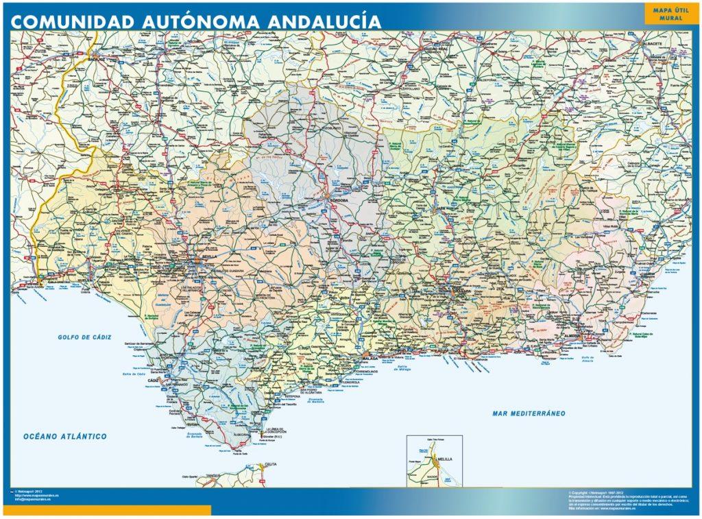 Carte Andalucia