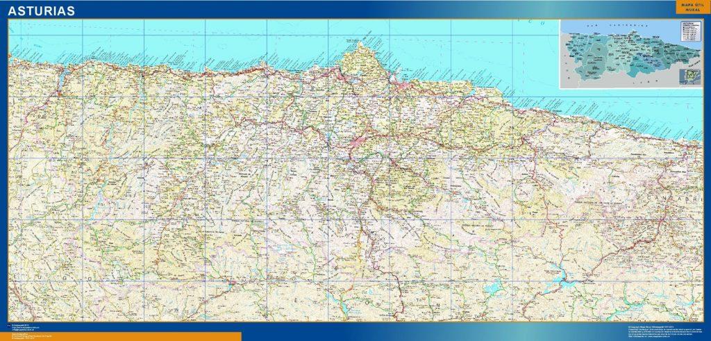 Carte Asturias