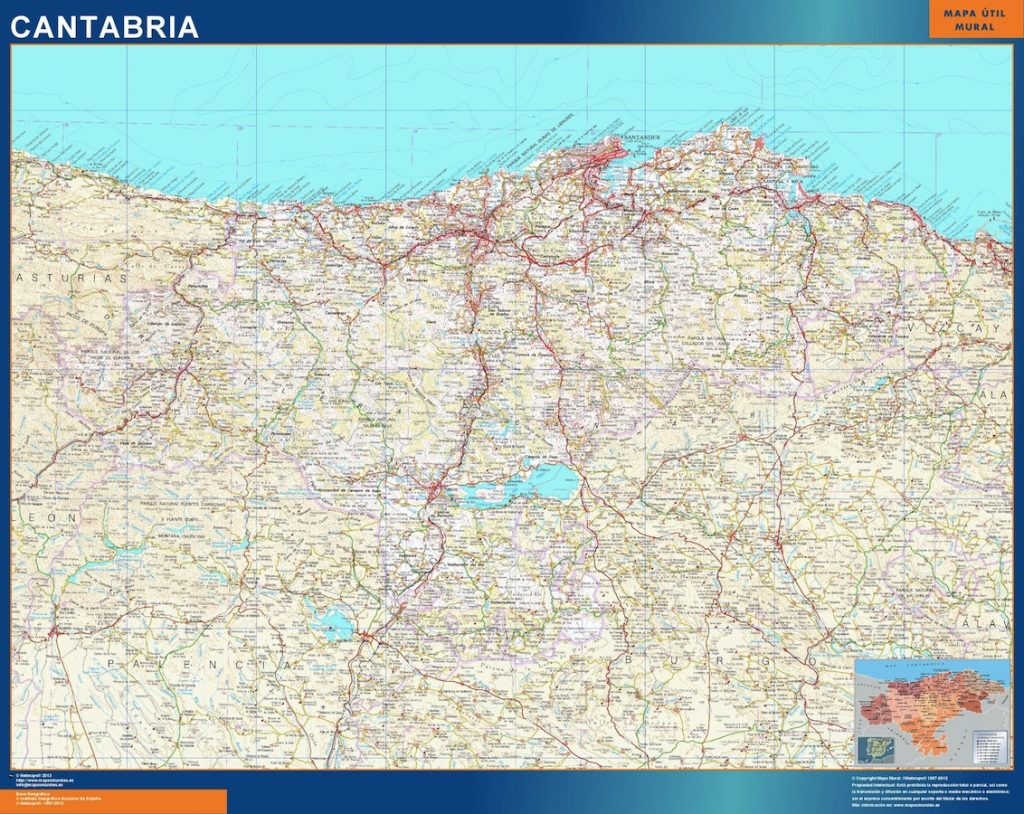 Carte Cantabria