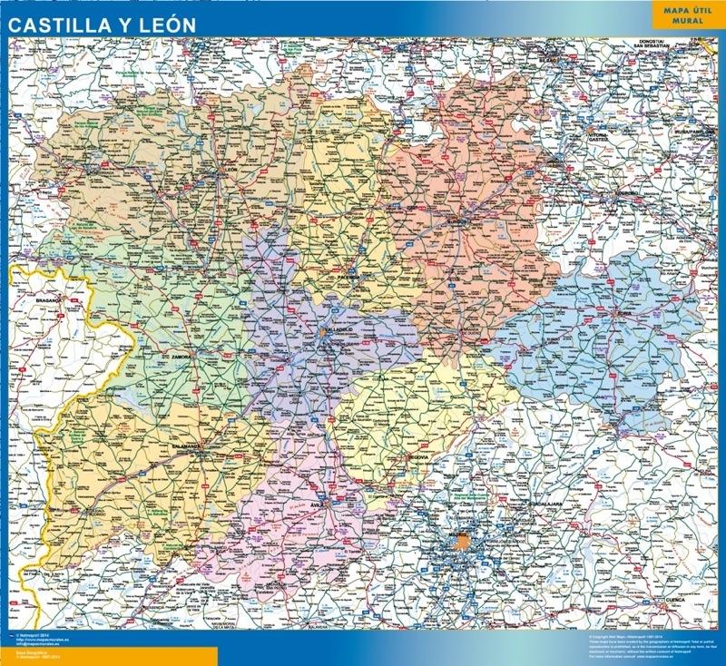 Carte Castilla y Leon