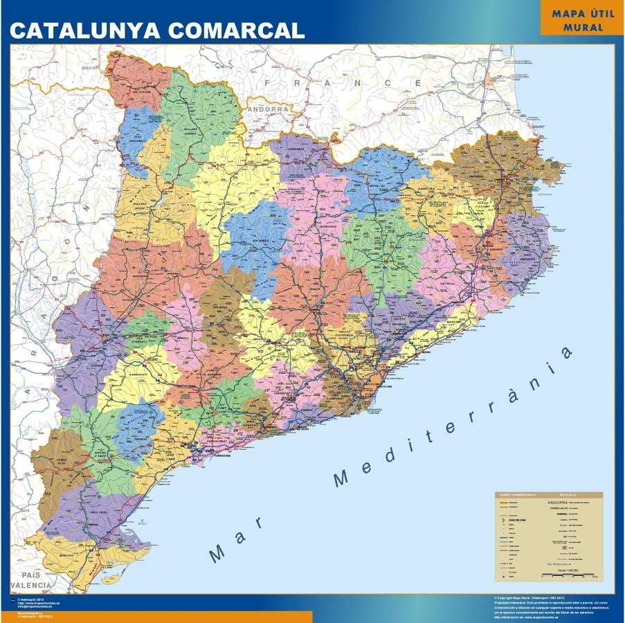 Carte Cataluna Comarcal
