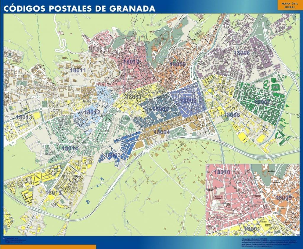 Carte Granada codes postaux