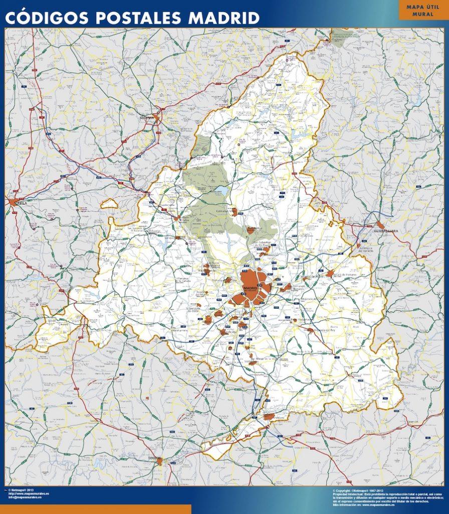 Carte Region Madrid Postal
