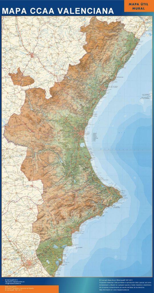 Carte Region Valenciana