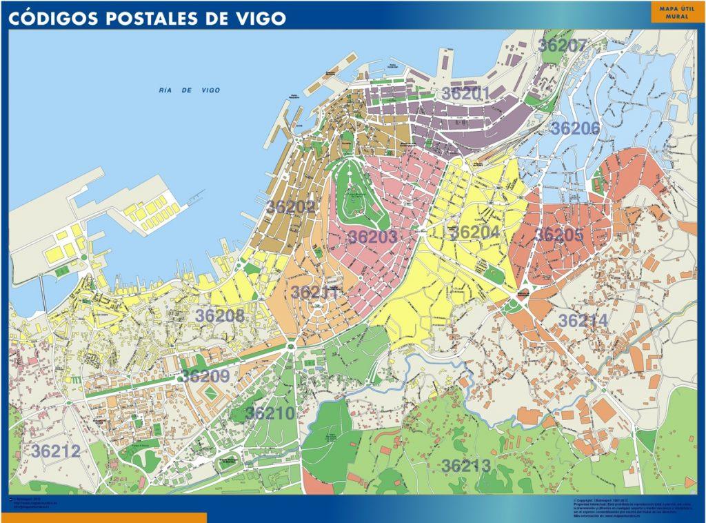 Carte Vigo codes postaux