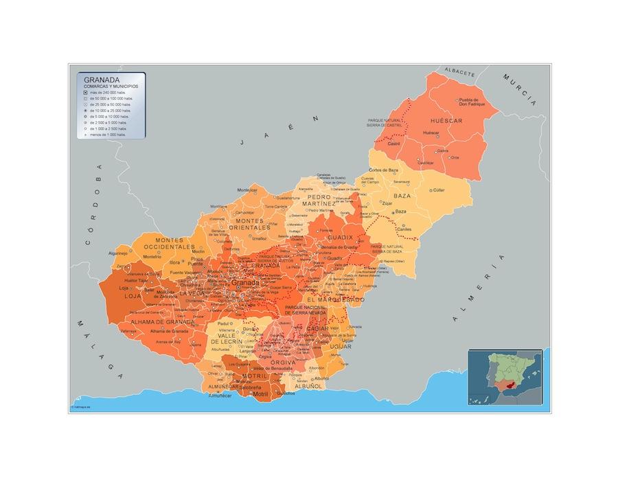Carte communes Granada