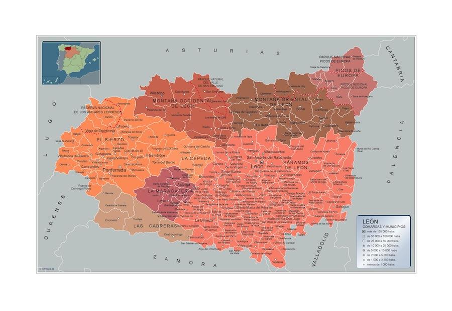 Carte communes Leon