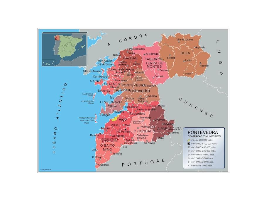 Carte communes Pontevedra