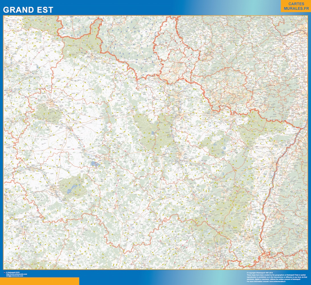 Carte Region Grand Est