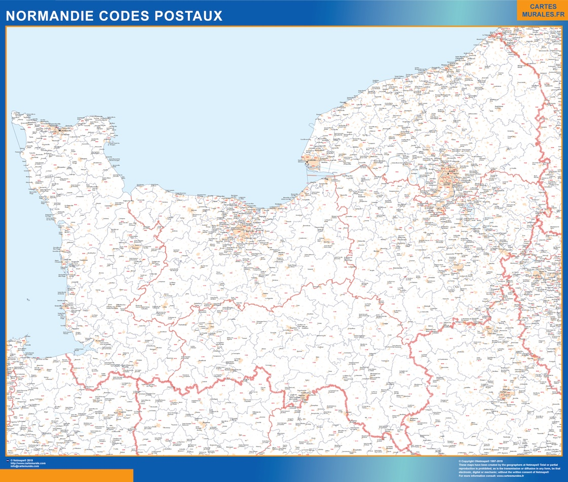 Region Normandie codes postaux