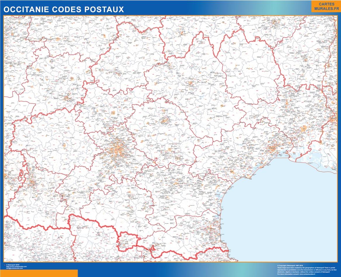 Region OccitanIe codes postaux