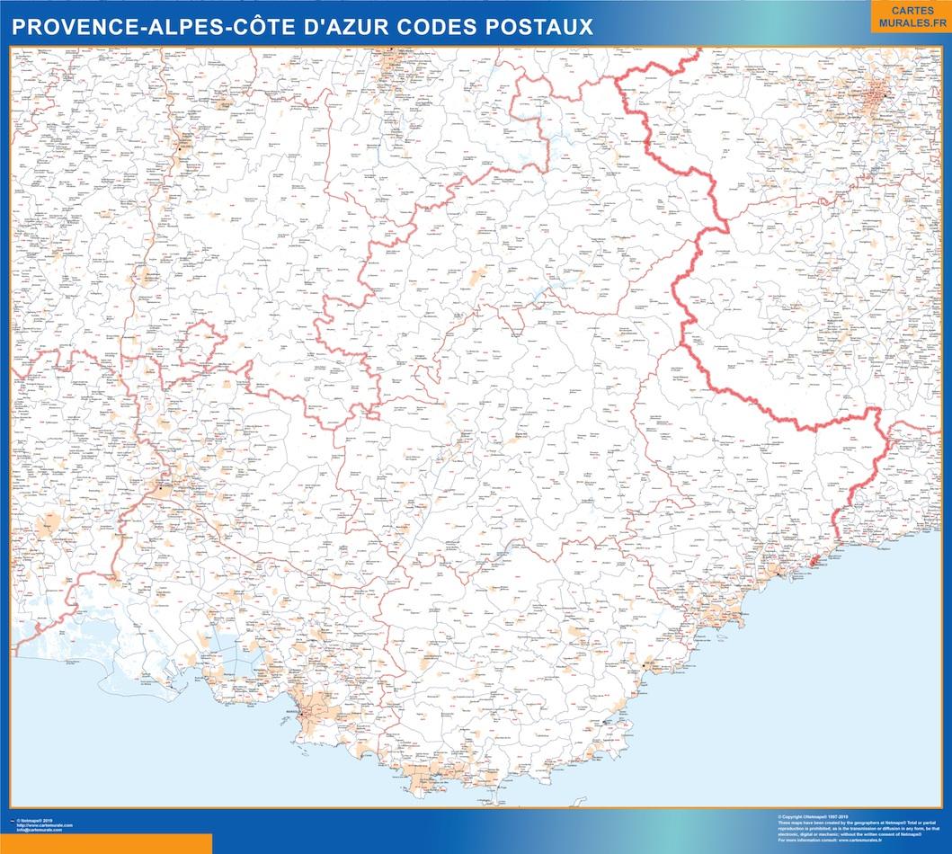 Region Provence-alpes cote azur codes postaux