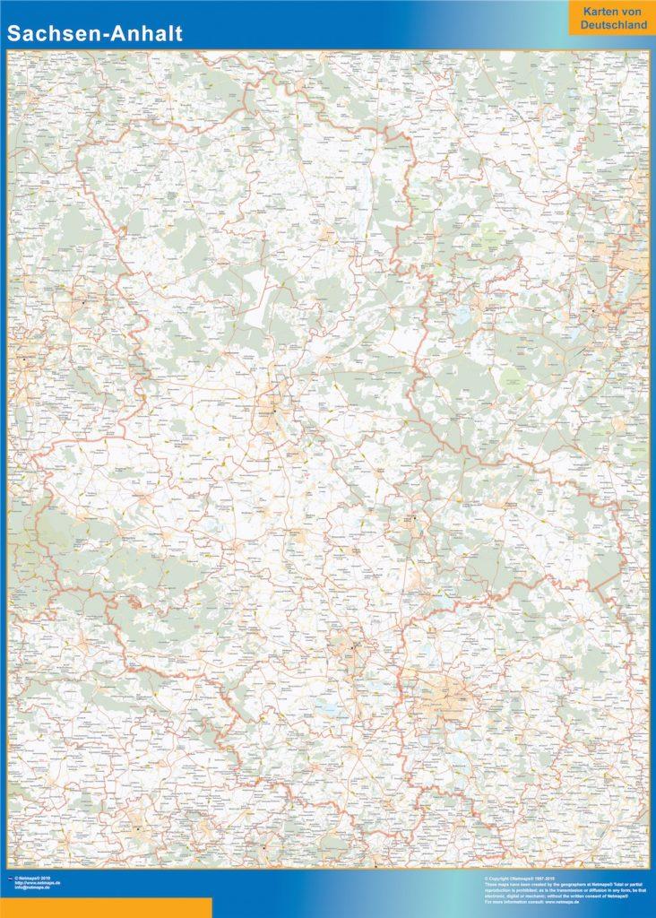 Sachsen Anhalt Carte Lander