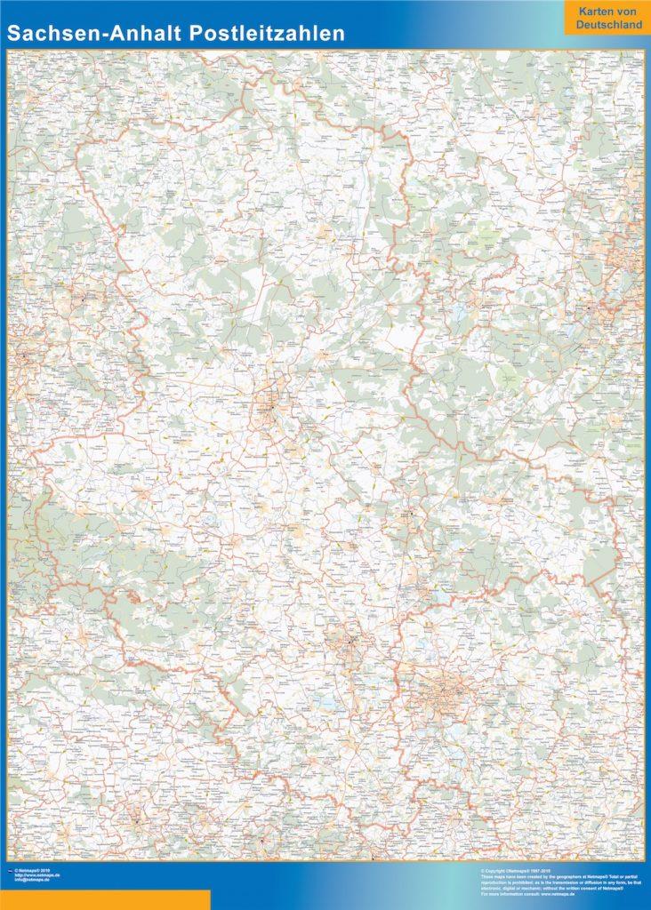 Sachsen Anhalt codes postaux