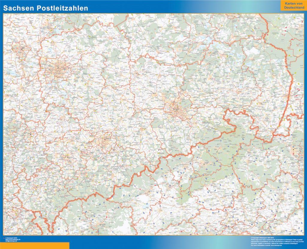 Sachsen codes postaux