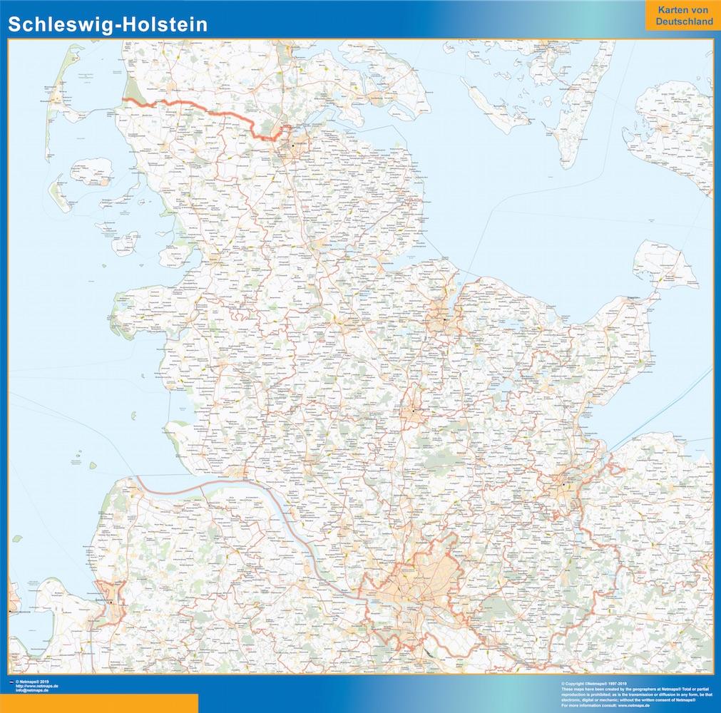 Schleswig Holstein Carte Lander