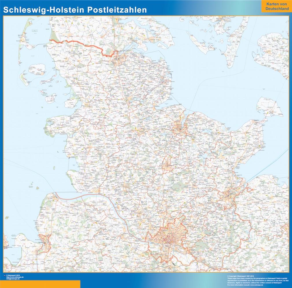 Schleswig Holstein codes postaux